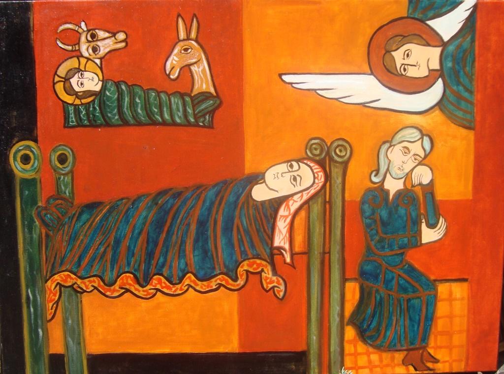 Peinture d'Elfi Guida, paroissienne de Saint-François d'Assise