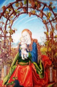 Peinture d'Elfi Guida paroissienne de Saint-françois d'Assise