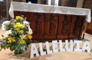 Décoration florale de Pâques à Lormes