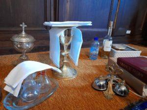 Préparation des objets liturgiques